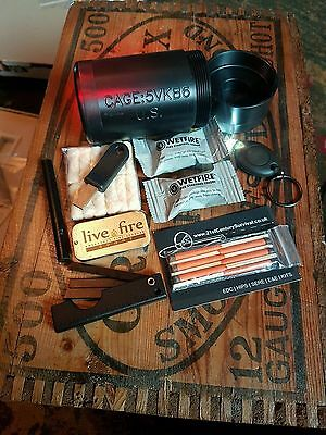Pandora's Box Survival Fire Kit.  EDC,  Bushcraft,  Hiking,  Fire Lighting , EDC