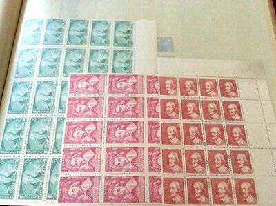 VENTE PRINTEMPS 2#LOT343: lot timbres France ** en feuilles & fragments