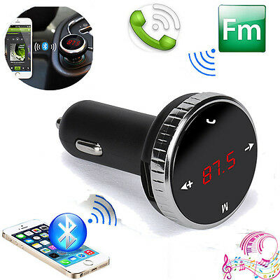Wireless Bluetooth Car MP3 Player FM Transmitter & USB LCD Charger Remote SD Kit