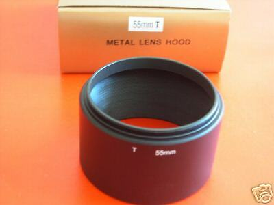 New! Metal Tele 55mm Screw-in Lens Hood Telephoto