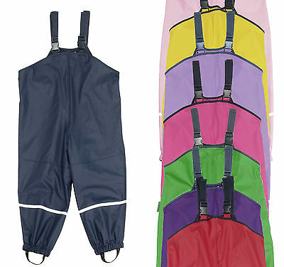 Playshoes Rain Overalls Mud Pants Waterproof Trousers Polyester Coated
