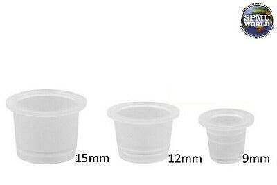 SPMU Ink Cups Pots Microblading - Tattoo Pigment Holder, Clear Plastic