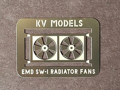 Etched Radiator Fan For Walthers Emd Sw-1 Ho Scale By Kv Models