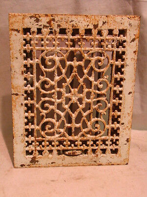 Antique Late 1800's Cast Iron Heating Grate Unique Ornate Design 13.75 X 11 V