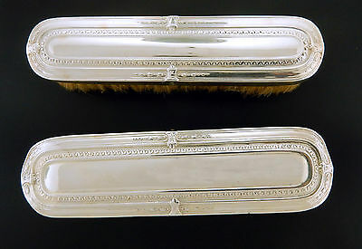 French Antique Clothing Brushes in Silver Plate  Set of 2 / 1940's