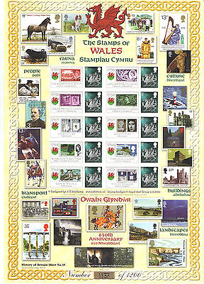 BC-197 2009 Stamps Of Wales History of Britain No.35 Business Smilers Sheet