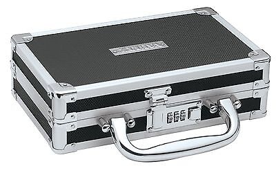 Vaultz Locking Storage Aluminum Case Clipboard Hard Black Solid Office Briefcase