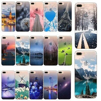 For iPhone 5 SE 6 6s 7 8 Plus X XR XS 11 Pro Max Case Patterned Silicone Cover