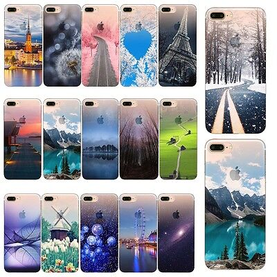 For iPhone 5 SE 6 7 Plus Case Patterned Silicone Bumper Rubber Shockproof Cover