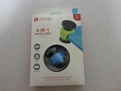 Olloclip iPhone 5c - 3-In-1  Photo Lens - Fish Eye - Macro - Wide Angle - Blue