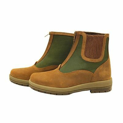 Rambo Original Horse Riding Waterproof Outdoor Tough Leather Short Turnout Boot