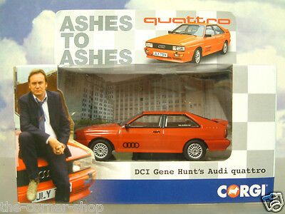 Corgi 1/43 Diecast Dci Gene Hunt's Red Audi Quattro From Ashes To Ashes Cc02701