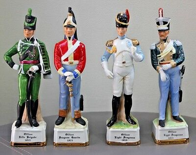 4 Alfretto Porcelain Continental Collectors Series Military Officer Figurines