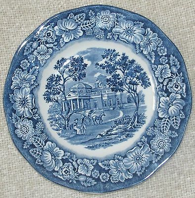 "Staffordshire LIBERTY BLUE Ironstone 5 7/8"" BREAD & BUTTER PLATE ""Monticello"""