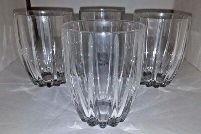 4 Marquis Waterford OMEGA Crystal Ribbed Double Old Fashioned Low Ball Glasses