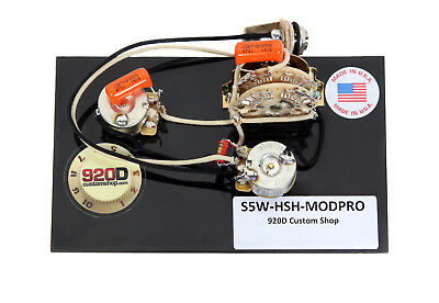 920D Custom Shop 5-way HSH Wiring Harness w/ Super Switch for Modern Pro