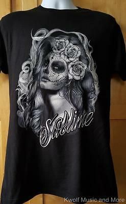 """SUBLIME T-Shirt  """"Skull Princess"""" Official/Licensed   S, M, L, XL, 2XL  NEW"""