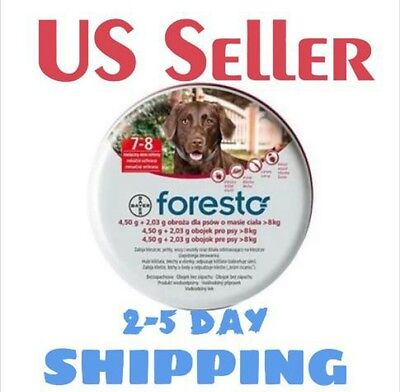 Bayer Foresto, Seresto Flea & Tick Collar for LARGE Dogs above 18 lbs (8kg)