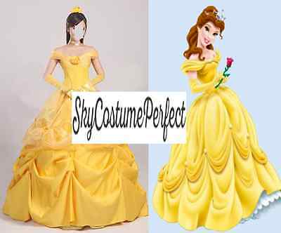 Beauty and The Beast Princess Belle Yellow dress costume cosplay disney WOW