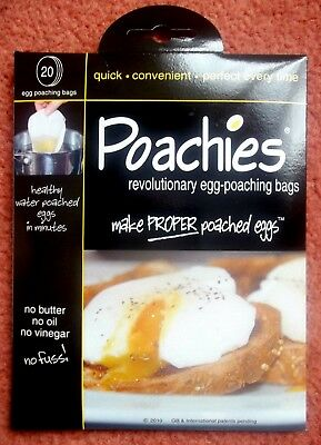 Poachies ~ Egg Poaching Bags ~ 1 Pack Of 20 Healthy Water Poached Eggs In Mins