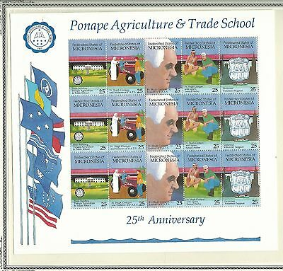 1990 Trade School Mini Sheet   Complete MUH/MNH as Issued