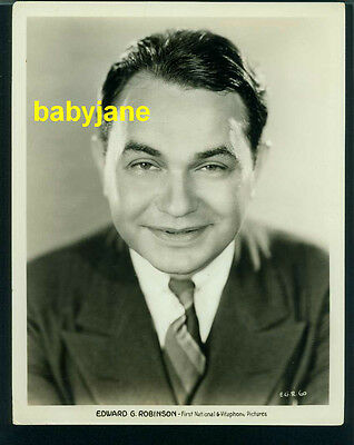 Edward G. Robinson Vintage 8X10 Photo Handsome Portrait First National Vitaphone