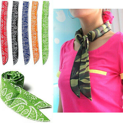 Fahion Non-toxic Neck Cooler Scarf Body Ice Cool Cooling Headband Wrap Tie Summe