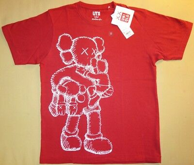 KAWS x UNIQLO 'Clean Slate (Companion)' Graphic Art T-Shirt SOLD-OUT S Red *NWT*