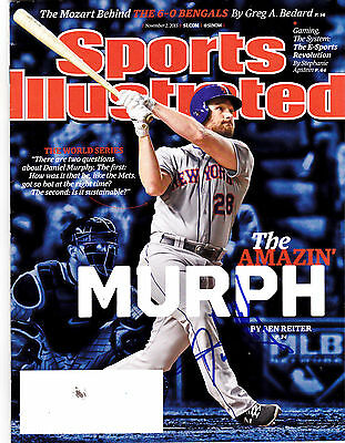 Daniel Murphy  New York Mets  Signed Sports Illustrated