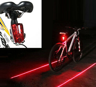 Cycling Bicycle Bike Tail Light Rear Safety Warning LED Laser Flashing Bulbs