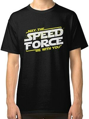 May The Speed Force Be With You Men's Black Tshirt S-2XL