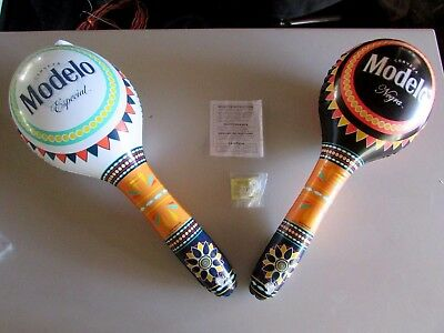 NEW Pair of Modelo Especial Negra Beer Inflatable Maracas Blow up Bar Pool Sign
