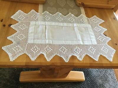 Antique Linen and Lace table runner.