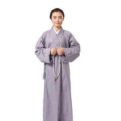 ZooBoo Long Kung Fu Shaolin Monk Robe Lay Master Zen Buddhist Meditation Gown