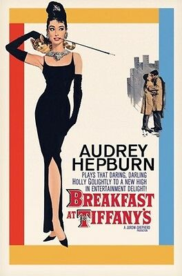 """Audrey Hepburn Poster """"breakfast At Tiffany's"""" Licensed """"one Sheet"""" Brand New"""
