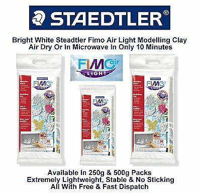 Staedtler White Fimo Light Air Drying Modelling Clay Hardening Lightweight 250g