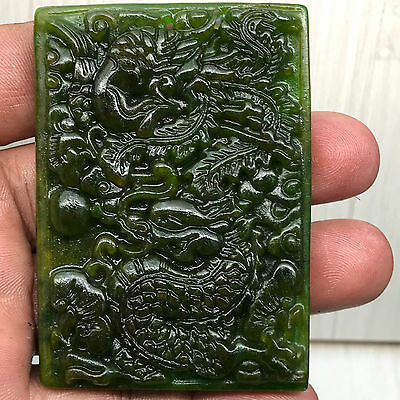 Chinese natural ancient old hard jade culture jadeite hand-carved pendant   B15