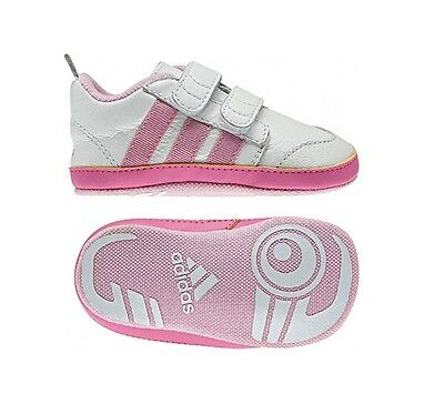 Adidas Essentials Girls Liladi 4 Crib Baby Infants Velcro Booties Pink (#5982)