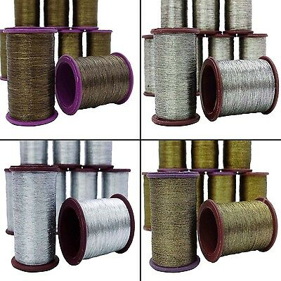 Lot Of 10 Pcs Silk Embroidery Spool Thread Craft  Supplies Cones Machine Sewing