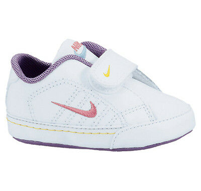 Nike Baby Girls First Court Tradition LEA Velcro Trainers Booties White (#5120)