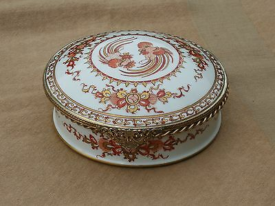 Le Tallec Paris French Hand Painted Large Porcelain Jewelry Box Chinese Pattern