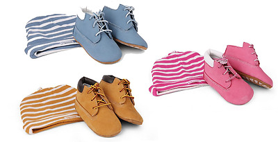 Timberland Baby Infants Hat & Booties Gift Set Hat Shoes Blue Pink Wheat