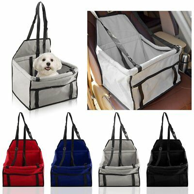 Pet Folding Dog Cat Puppy Car Seat Safety Belt Cover Booster Travel Carrier SE