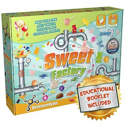 Science4You Sweet Factory Candy Lollipop Making Kit Educational Science STEM Toy