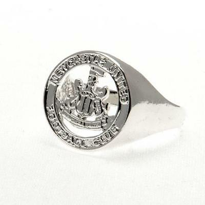 Official Licensed Football Club Newcastle United Crest Ring Silver Plated Large