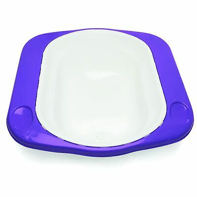 The Neat Nursery Co. Supabath Baby Bath With Soap Dish And Plug - White / Plum