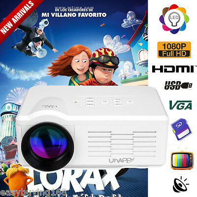 Mini 3000LUMEN Portatile LED1080P 3D Videoproiettore VGA HDMI AV USB Home Cinema