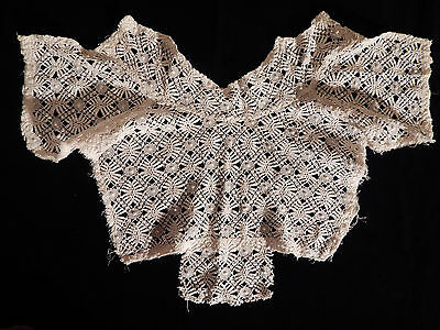 Lace Maltese Collar Blouse Front White Antique With Stays
