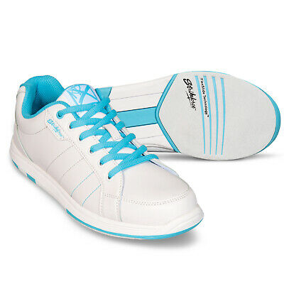 Damen Bowlingschuhe KR Strikeforce Satin white aqua, links- und rechtshand