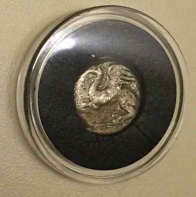 Ancient Greek Silver Drachm Coin Abdera 380 BC Flying Horse With Wings & Cup